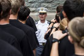 u s department of defense photo essay a third year west point cadet center greets new cadets at mealtime on