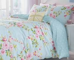 shabby beach house blue pink roses chic queen duvet cover set 23995 blue shabby chic bedding