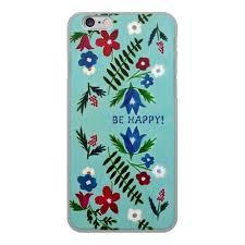 Чехол для iPhone 6, объёмная печать <b>Цветы на голубом</b> #2495579