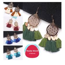 ReadyStock    Tassel Earing <b>Women</b> Fashion Accesories <b>Bohemian</b> ...