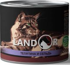 Корм в <b>консервах Ландор</b> для кошек купите <b>Landor консервы</b> для ...