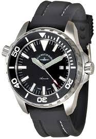 Zeno Professional Diver Pro Diver 2 Black Dial <b>Silicone Strap</b> Men's ...