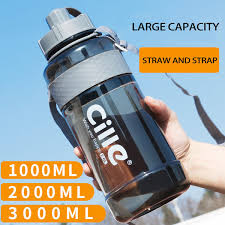 <b>2018</b> 1L 2L <b>3L</b> Large Capacity Sports Water Bottles Portable Plastic ...