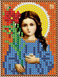 <b>Набор для вышивания</b> чешским бисером Св. Богородица ...