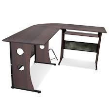 tinkertonk dark walnut computer desk home office corner desk set l shaped bedroom desk unit home