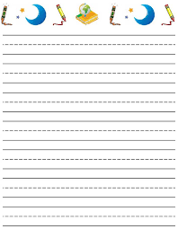 Writing Paper With Picture Box Free   printable writing paper with