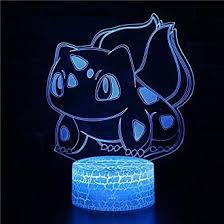 3D LED Night Light <b>Cartoon Cute</b> Pet Animal Dog Cat Monster ...