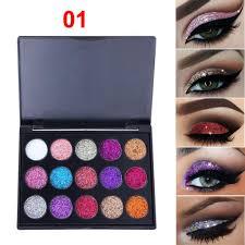<b>15 Colors</b> Eyeshadow Palette <b>Diamond Shimmer Glitter</b> Powder Eye ...