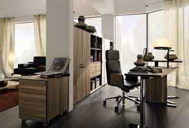 modern home office as a new interior inspiration elegant home office clad in brown wooden bright modern office space