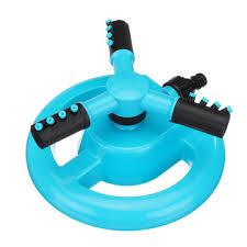 <b>360 degree rotating garden</b> water sprinkler 3-arm fitting hose ...