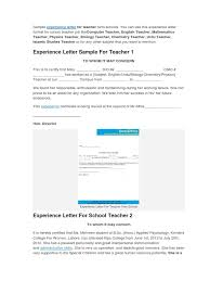 sample experience certificate format for school teacher sample experience certificate format for school teacher professional certification