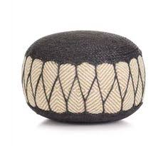 <b>Woven</b>/<b>Knitted Pouffe Jute</b> Cotton 50x30 cm Blue in 2020 | Knitted ...