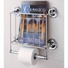 magazine rack wall mount:  elegant bathrooms chrome bathroom magazine holders come with chrome wall with bathroom magazine rack