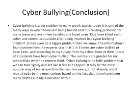 essays on cyber bullying  essay papers on cyberbullying    cyberbullying essay conclusion