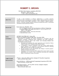 sample resume templates objectives resume sample information resume template objective example for software engineering work experience sample resume