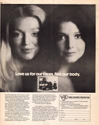 sexism fonts typographica ad from u lc for a photo typositor showing a photograph of two beautiful women the