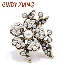 <b>CINDY XIANG New Arrival</b> Full Pearl Flower Brooches for Women ...