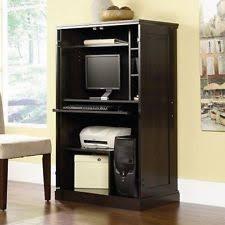 computer armoire desk hutch workstation den cabinet small home office furniture armoire office desk