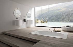 bathroom designs luxurious:  awesome wonderful white brown wood glass stainless unique design luxury for luxury bathroom