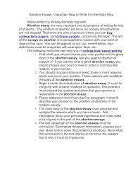 abortion essay   mon repas essayfree essays on abortion available at echeat com  the largest   essay community