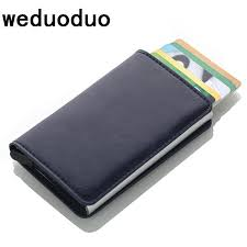 <b>Weduoduo</b> Men And <b>Leather</b> Credit Card Holder RFID Aluminium ...