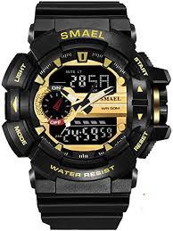 <b>SMAEL</b> Sport Watch for <b>Men</b> 50M Waterproof Digital Watch Military ...