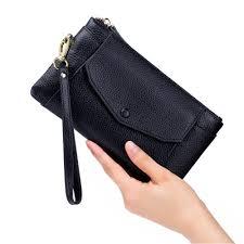 Simple <b>Ultra</b>-<b>thin</b> Genuine Leather Women Wallet <b>Phone</b> Pouch ...