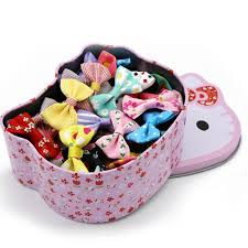 50Pcs/Set In <b>Hello Kitty Box</b> Bow Knot <b>Hair</b> Clip Barrette Hairpins ...