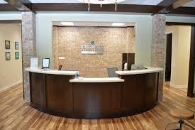 home office front desk design for house e2 80 9a desks dental inside new york best office reception areas