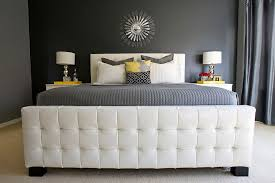luxurious master bedroom in gray with yellow accents design michelle hinckley bedroom grey white bedroom