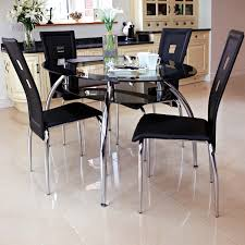 related post with glass dining table contemporary black dining room furniture black and chrome furniture