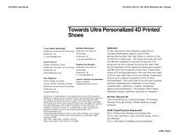 (PDF) Towards Ultra Personalized 4D <b>Printed Shoes</b>