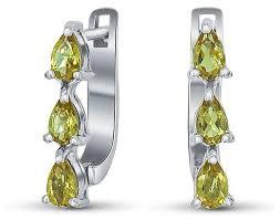 Купить Silver WINGS <b>Серьги с султанитами из</b> серебра 020011v3 ...
