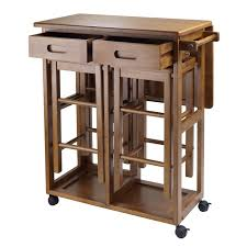 leaf kitchen cart: amazoncom winsome wood table drop leaf square stool natural table amp chair sets
