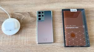 Olixar Genuine Leather Samsung Galaxy S21 Ultra <b>Wallet Case</b> ...