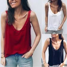 Shop <b>Hot Sale Fashion Summer</b> Loose Sleeveless Casual Tank T ...