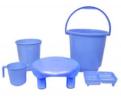 Kuber Industries Virgin Plastic <b>5</b> Pieces <b>Bathroom Set</b> (Blue ...
