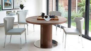 beautiful white brown wood glass cool design dining room round table shape wood white chairs stainless awesome black white wood glass