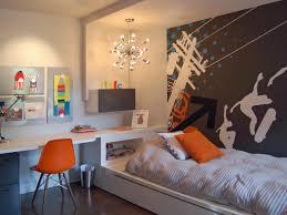 boy bedroom orange grey