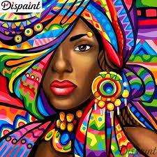 "<b>Dispaint Full Square/Round Drill</b> 5D DIY Diamond Painting ""African ..."