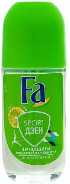 <b>Дезодорант роликовый Fa Sport</b> Дзен, с ароматом лайма и ...