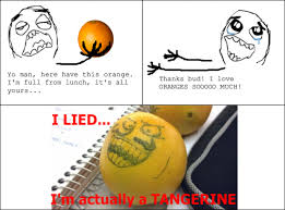 I Lied Meme - Orange via Relatably.com
