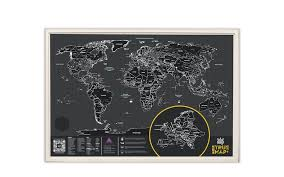 <b>Скретч карта</b> мира True Map Plus Black | Верфь
