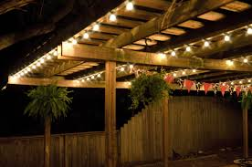 outdoor stunning garden lights with wooden patio table set also unique adirondack chairs design patio garden views garden lighting ideas for party solar backyard string lighting ideas