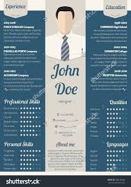 new modern resume cv curriculum vitae stock vector  new modern resume cv curriculum vitae template design in blue light ribbon