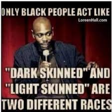 "Only black people act like ""Dark skinned"" and ""light skinned"" are ... via Relatably.com"