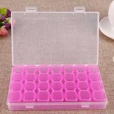 <b>28 Grids</b> Comestic Storage <b>Box</b> Diamond Jewelry Case Nail ...