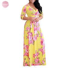 Plus Size <b>Dresses S 5Xl</b> Women <b>Robe Summer</b> Printed <b>Maxi Dress</b> ...