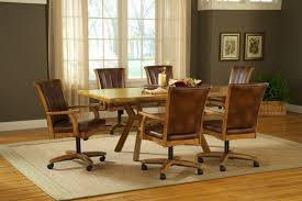 Dining Room Chairs With Casters And Arms Dining Room Chairs With Casters Leather Dining Room Rolling Chairs Armless Dining Room Chairs With Castersjpg