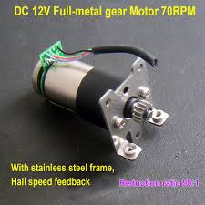 DC <b>12V 70RPM</b> High Torque <b>Full Metal</b> Gear Geared DC Motor W ...